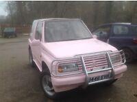 Pink Suzuki Vitara Convertable Great fun car