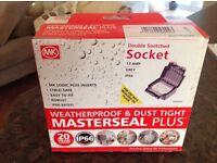 MK waterproof twin socket