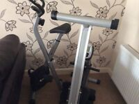 Foldable V Fit exercise bike and Marcy foldable rowing machine in very good condition.