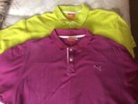 Two Puma One Gap polo shirts size XL