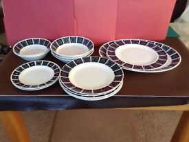 Midwinter Tableware, Madeira pattern, selection of plates, bowls etc. Including serving platter