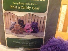 Teddy bear knitting kit
