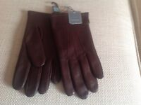 MENS LEATHER GLOVES FROM JOHN LEWIS, NEW