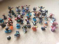 Collection of 45 skylander figures