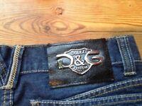 Designer Blue Denim Jeans, Dolce & Gabbana
