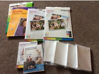 Various sizes of photo gloss paper