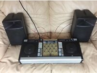 DJ DECK - DUAL CD DJ DECKS WITH WIRED SPEAKERS. SUIT BEGINNER / NOVICE / CHILD