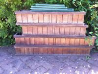 4 Wooden window boxes