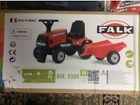 Falk Case IHCVX 120 Tractor and Trailer Ride-on for ages 12 - 36 months