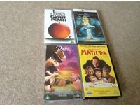 4 childrens video James and the giant peach :never ending story: Babe: matilda