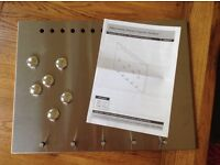 Stainless steel memo board - new