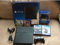 Playstation Ps4 console, mint cond, extra dual shock controller, 3 games