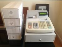 Cash register sharp xe-A301 for sale along with 4 boxes of thermal rolls