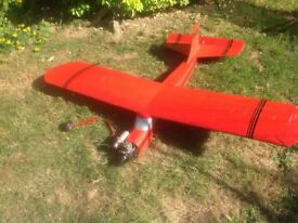 "RC plane nitro, 3channel, 5ft 3"" wingspan (170cm)"