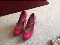 Pink ladies shoes size 4
