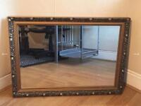 Large Hold Framed Gilt Mirror - Very Good Condition