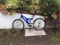 Blue suspension bike