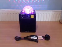 Ion Party Power Portable Speaker System with Party Lights rechargeable battery
