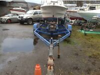 Boat Trailer Heavy Duty Twin Axle will take up too 24FT no problem
