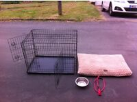 Large Dog Cage and Pillow