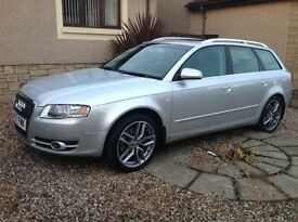 "Audi A4 auto avant 3.0 tdi quattro se 57 plate,fsh,full leather,heated seats,new towbar,18"" alloys"