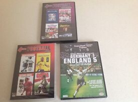 Selection of football DVDs.