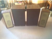 Vintage Bowers and Wilkins B&W Large floor standing speakers + 2 more old speakers