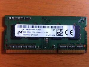 Used Micron Laptop DDR3L 1600 PC3 12800S Sodimm 8GB Ram Memory (We have only ONE)
