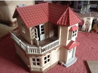 sylvanian house, boat and other items