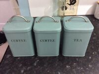 Tea coffee canister / tins from John Lewis