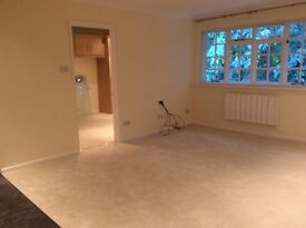 NEWLY refurbished 1 bed flat. Bagshot, Surrey. Lovely location. Parking. Available IMMEDIATELY.