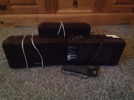 Selling a SONY music stereo, includes 2 speakers, remote, main section.