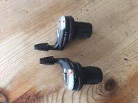 SRAM x7 9 speed twist shift pair