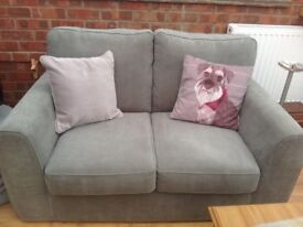 Next Sofa Excellent Condition Dove Grey With Protection
