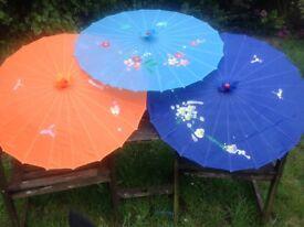 Silk parasols from China