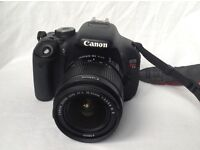 Canon Rebel t3i, DSLR CAMERA, including case, 2 batteries, lens cleaning items, & 32GB card