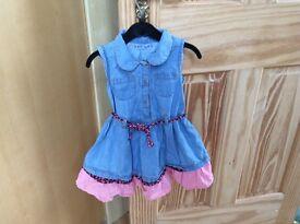 Denim summer dress 2-3 years excellent condition