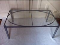 New Ex Display Modern Glass Coffee Table Excellent New Condition / Can Deliver