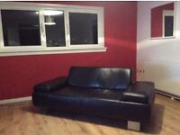Stunning 2/3 seat real leather sofa only £80 (cost £650 ) collect Edinburgh