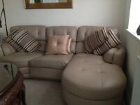 Beautiful 3 Seater Beige Leather Sofa