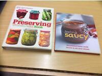 Two large cookbooks