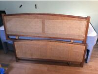 Caned adjustable headboard