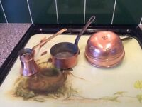 Vintage French Copper kitchen items