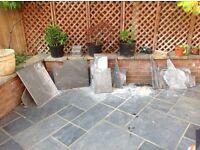 Slate paving slab off-cuts