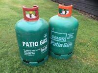 Patio gas bottles