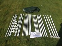 Self Assembly Gazebo - in good conditions, hardly used, green cover, all poles/instructions included