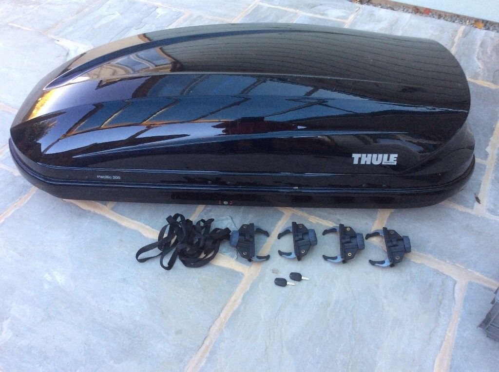 thule roof box pacific 200 and clamps in aylsham. Black Bedroom Furniture Sets. Home Design Ideas