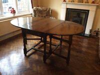 Bevan Funnel solid oak gateleg dining table