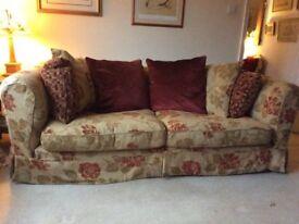Fabulous Tetrad Vivaldi 3 Seater Sofa in Ginger Opus fabric