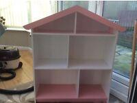 Children's dolls house bookcase/display unit
